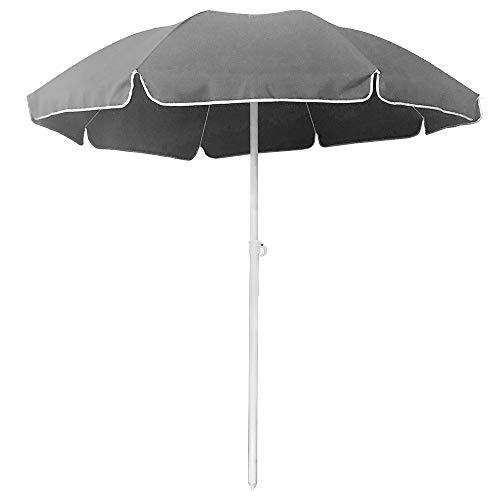 SAILUN Ø 200cm Garden Parasol Beach Umbrella Tilting Parasol Outdoor UV20+ Sun Protection Sunshade Shelter for Outdoor Garden Patio Height Adjustable Beach Umbrella (Dark Grey)