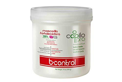 Capilo Pro B-Control Mask w/ Sole and Cinnamon (16 oz Tub); Paraben Free, Salt Free, Sodium Sulfate Free, Mineral Oil Free and Petrolatum Free