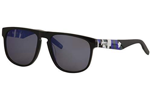 PUMA sonnenbrille PU0225S 003 schwarz blau größe 56 mm mann