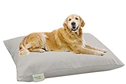 organic cotton and virgin wool dog bed