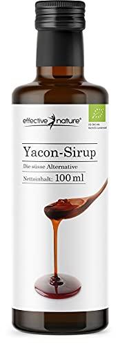 effective nature Yacon-Sirup - 100 % naturbelassen und in Bio-Qualität - Vielseitige Zuckeralternative aus dem beliebten Anden-Gewächs - Angenehme Süsse - 100 ml