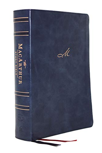 NKJV MacArthur Study Bible, 2nd Edition, The, Leathersoft, Blue, Thumb Indexed, Comfort Print: Unleashing God's Truth One Verse at a Time