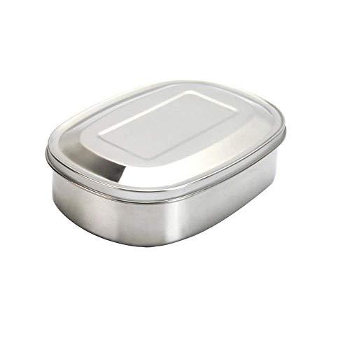 Joyfeel buy Edelstahl Brotdose Lunchbox Klein Frühstücksdose Proviantdose Brotbox zum Wandern Reisen und Erwachsene 12,4cm * 9,4cm * 3,8cm