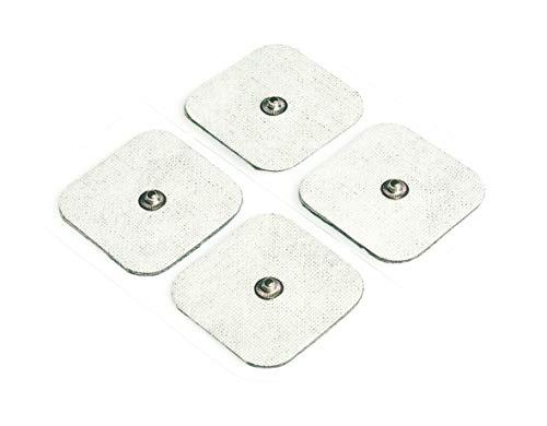Beurer 661.02 Set de recambio, TENS/EMSpara los electroestimuladores de Beurer EM-49 / EM-80/ EM- 41 / EM-40, color blanco, 8 electrodos (4,5 x 4,5 cm)