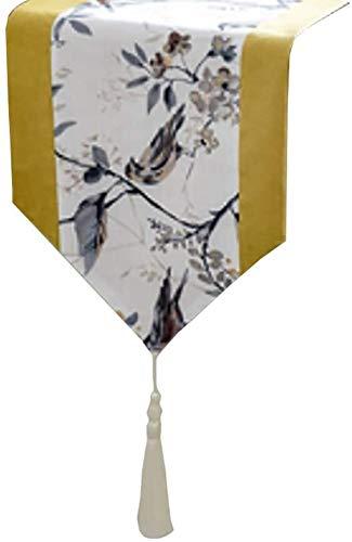 Corredor de mesa Camino de mesa de paño con las borlas, con aislamiento térmico té Cortina, for el Hotel Casa Cocina Comedor Corredor de la tabla Mat Manteles ( Color : Style1 , Size : 30×200cm )