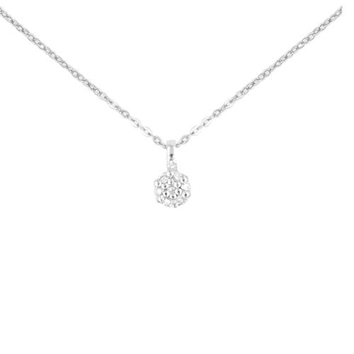 L'Atelier d'Azur - Collana da donna con pavé di diamanti in vero oro bianco