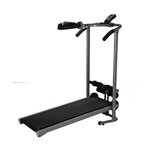 Coldshine Folding Manual Treadmill Walking Running Machine Cardio Fitness Exercise Incline