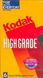 KODAK HIGH GRADE T-120 RECORDING TAPE (SINGLE)