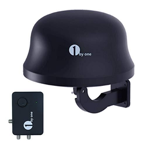 1byone Antenna DVB-T   T2 32db Antenna interna per interni Antenna esterna con amplificatore Gamma 120km Antenna Ricezione remota antenna HDTV, DVB-T DVB-T2, con 4G LTE integrato