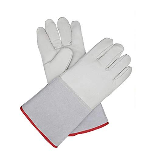 XYFJD Handschuhe Hochtemperaturofen Lang Gefütterte Schweißstulpen Niedrigtemperaturbeständige wasserdichte Frostschutzhandschuhe Handschuhe Mit Flüssigem Stickstoff (Color : White, Size : M)