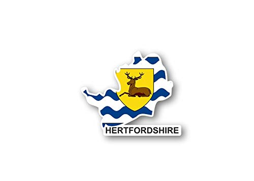 Akachafactory stickers, kaart, vlag Engeland, Hertfordshire