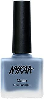 Nykaa Matte Nail Enamel - Blue Jellybean (Shade No.128) (9 ml)