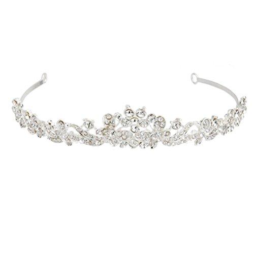 WINOMO Hochzeit Braut Prom Strass Krone Prinzessin Diadem Haarreif Haarband Haar Hoop Stirnband Haarschmuck