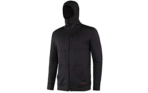 Terramar Men's Ecolator Full Zip Hoodie,  Medium - Black