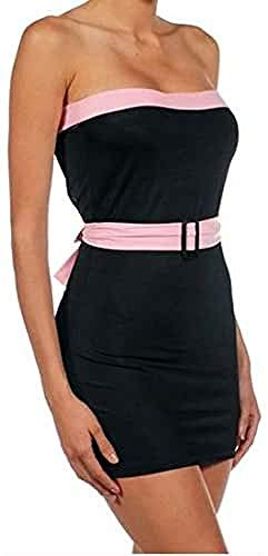 Intimax corsets lencería y moda Alba Vestido de Noche, Negro, S/M para Mujer