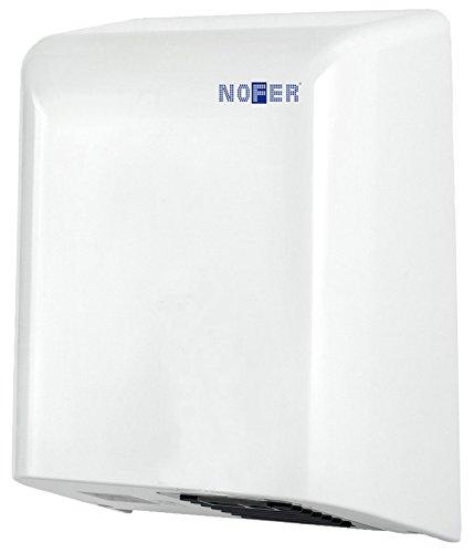 Nofer 01461.W Bigflow - Secador de Manos con Sensor electrónico ABS, Color Blanco, 30x 19x 36cm