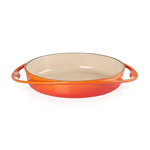 Le Creuset Teglia per torte, Rotonda, Ø 25 cm, Adatta a Tutte le Fonti di Calore incl. Induzione, Rosso Forno