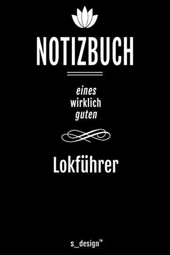 Notizbuch für Lokführer / Eisenbahn-Fahrer: Originelle Geschenk-Idee [120 Seiten kariertes blanko Papier]