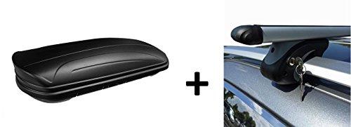 VDP Dachbox MAA320M Relingträger Alu kompatibel mit Mercedes E-Klasse Kombi S211 03-08 Schloss