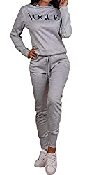 Long Sleeve Vogue Slogan Printed Sweatshirt Top Bottoms 2 Pcs Co-ord Set Loungewear Soft Stretchy Comfortable Warm Material Length...27 Inches Approx. (Top) 40 Inches Approx. (Bottoms) Machine Washable