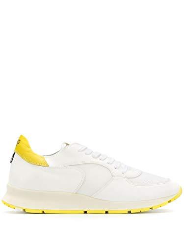 Moda De Lujo | Philippe Model Hombre NTLUXT16 Blanco Cuero Zapatillas | Temporada Outlet