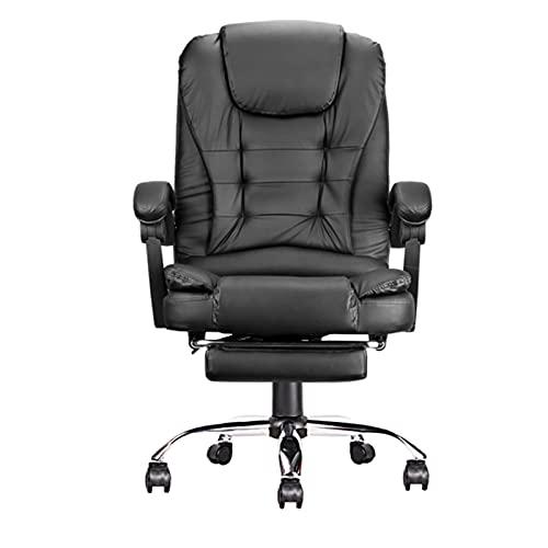 YUEBAOBEI Gaming Stuhl Mit Fußstützen Ergonomischer Bürostuhl PU-Leder Einstellbarer 90°-135° Neigungswinkel PC Stuhl, Lordosenstütze,A