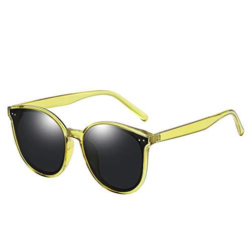 GUANGE Gafas de sol polarizadas para mujer, protección UV400, gafas de sol para mujer, de gran tamaño, de moda, para conducir, ciclismo, golf, pesca, correr, vela, regalos para damas, color amarillo