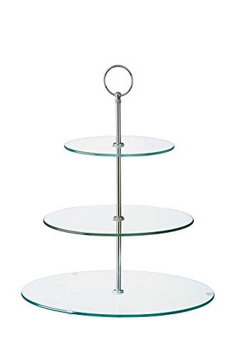BIA Support à gâteau 3 étages en verre, transparent