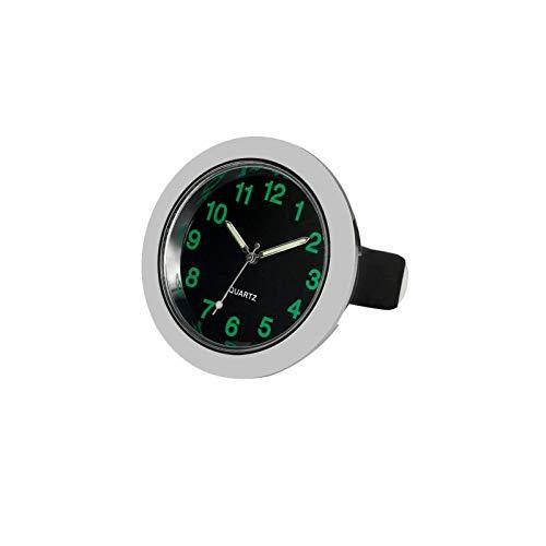 REACHS Car Dashboard Clock Cars Air Vent Clip Quarz Clocks Mini Luminous Quartz Analog Watch,Universal Pocket Stick On Clock Perfect Decoration for Boats Bikes Auto Home Decoration