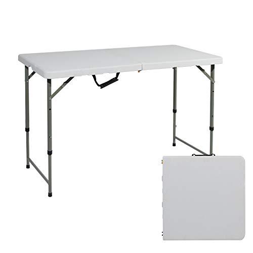 soges Gartentisch Campingtisch Klapptisch Faltbarer und höhenverstellbarer Gartentisch Esstisch aus Aluminium Keine Montage und leicht zu tragen,120 * 60CM