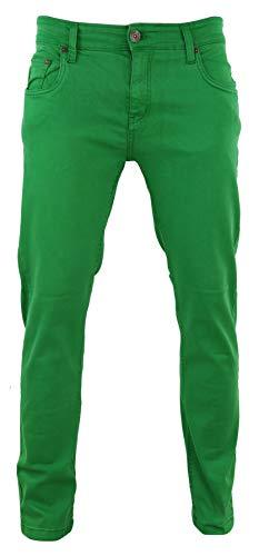 Georgio Peviani Vice Jeans Uomo Rosso Giallo Regolare Dritti Comodi - Verde 42UK, 52IT