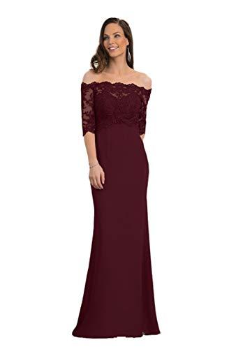 Wedding Dress Silk Sheath Off the Shoulder Half Sleeves