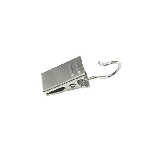 CDFD 10st Douchegordijn Zilveren haak Veerklemmen Hanger Clips Glider Peg Pins, nr 1
