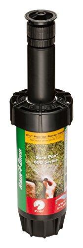 "Best pop up sprinkler heads - Rain Bird SP25AP18 SP25AP-25 SP25AP Sure 600 Series Sprinkler, Adjustable 0°, 2.5"", Pop-up Height"