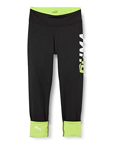 PUMA Modern Sports Leggings G Mallas Deporte, Niñas, Black/Sharp Green, 140