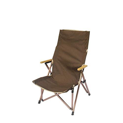 Silla de camping con respaldo alto, equipo de exterior con bolsa, equipo de camping portátil, silla telescópica de gran tamaño, plegable