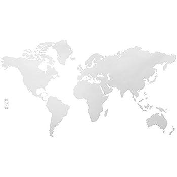 azutura Mapa del Mundo Vinilos Educativo Pegatina Decorativos Pared Escuela de Dormitorio de Oficina Decoración del hogar Disponible en 5 tamaños y 25 Colores X-Grande Blanco: Amazon.es: Hogar