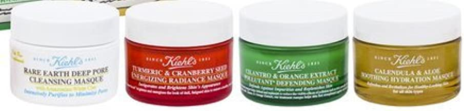 Mix & Mask Minis (Rare Deep Pore Cleansing Masque 0.5 oz + Turmeric & Cranberry Masque 0.5 oz + Cilantro & Orange-Extract Masque 0.5 oz + Calendula & Aloe Soothing Hydration Masque 0.5 oz)