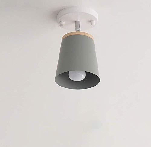 Moderne schmiedeeiserne Deckenlampe verstellbarer LED-Kronleuchter aus Holz Wohnzimmer Gangbeleuchtung dekorative Deckenlampe C