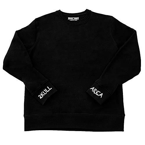 "2KULL AREA Sweatshirt ""NO Gossip"" I Street-, URBAN-, Security-, Fight-, Vintage-, Sports- & Bikewear (Schwarz, S)"