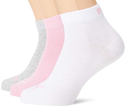 PUMA Plain 3P Quarter Socke, Rosa (Prism Pink), 39-42