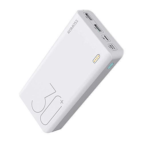 ROMOSS Externer Akku 26800mah Powerbank 18W Schnellladefunktion QC 3.0 Externer Akku mit LED Batterieanzeige, Externer Akku mit 2 Ports Ausgänge Tragbares Ladegerät für Handy, iPhone, iPad und Andere