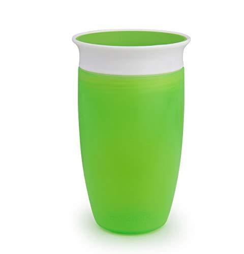 Munchkin Miracle 360° Vaso de Entrenamiento, Verde (Green), 296 ml