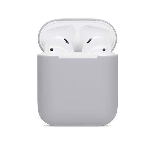Lajer Airpods Schutzhülle kompatibel mit Apple AirPods Silikon TPU+PC Schlank Leicht Airpods Hülle Apple Wireless Headphone Hülle, Apple AirPods, C-grau