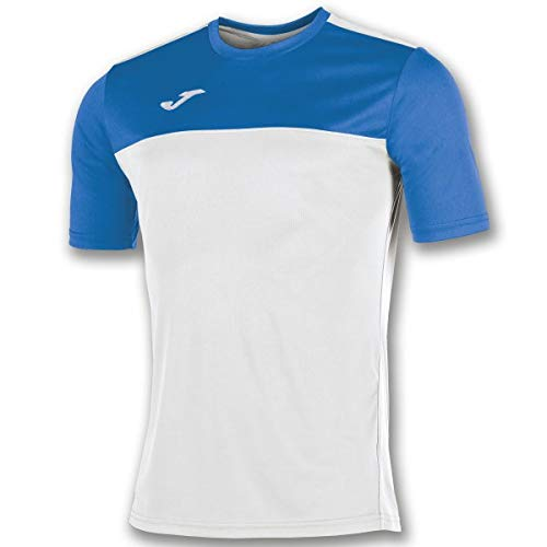 Joma Winner Camisetas Equip. M/c, Hombre, Blanco/Royal, L