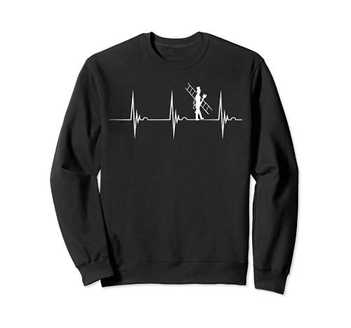 Deshollinador con latido cardíaco, deshollinador de chimenea EKG Pulso Line. Sudadera