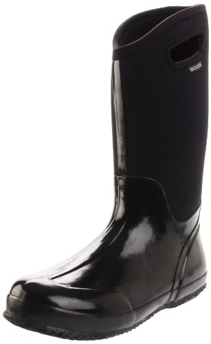 Bogs Women s Classic High Handle Waterproof Insulated Boot,Black Smooth,9 M US
