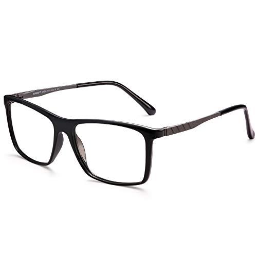 AVAWAY Blaulichtfilter Ohne Sehstärke Brille für Damen und Herren Gaming Computer Brille Verringerung der Augenbelastung, Kopfschmerz