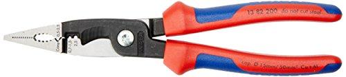 KNIPEX Alicate para instalaciones eléctricas (200 mm) 13 82 200 SB (cartulina autoservicio/blíster)