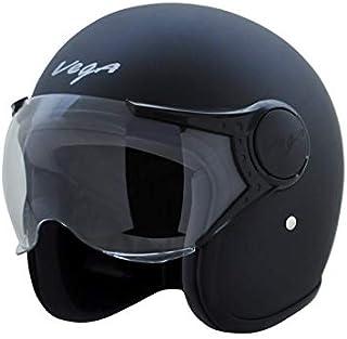 Vega Jet Open Face Helmet (Dull Black, L)